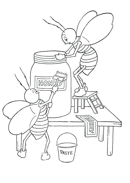 455x640 Honey Bee Coloring Pages In Addition To Kids Printable Honey Bees