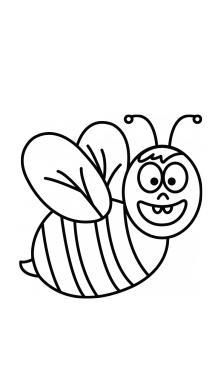 215x382 How To Draw A Bee Easy