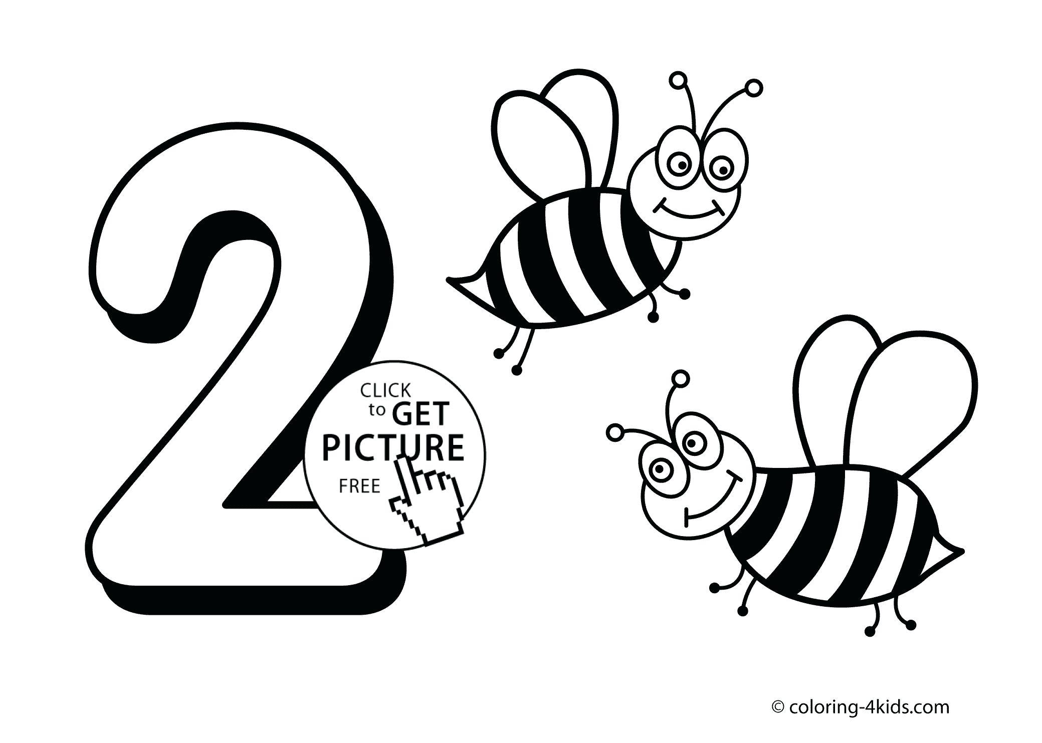 2079x1483 Worksheet Honey Bee Worksheets Simple Numbers Coloring Pages