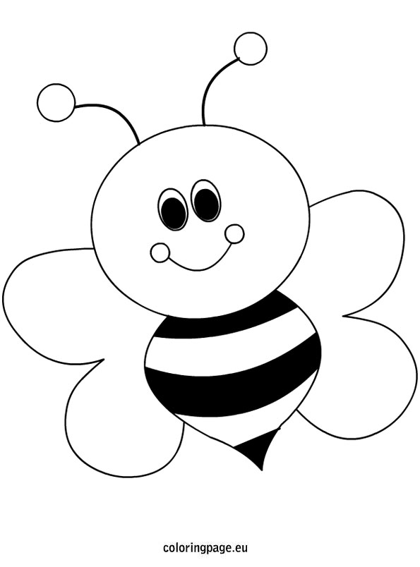 595x804 Bee Coloring Page