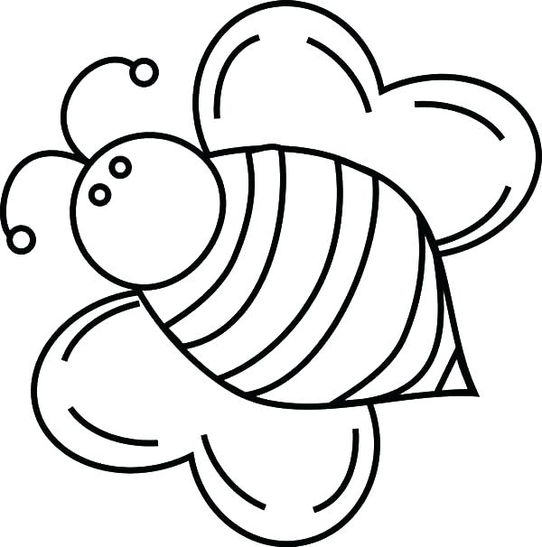 600x606 Bumble Bee Coloring Free Download Coloring Pages Tagged Simple
