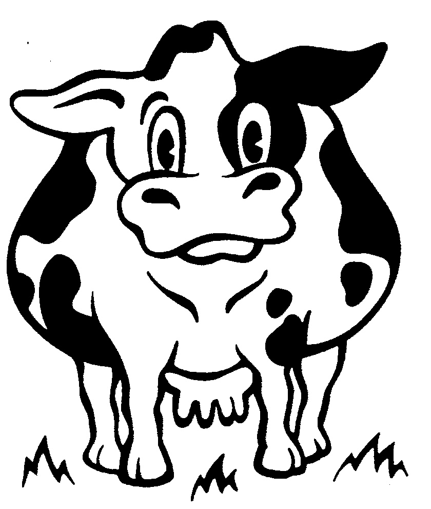840x991 Dairy Cattle Drawing Dairy Cattle Colouring Pages Cartoon