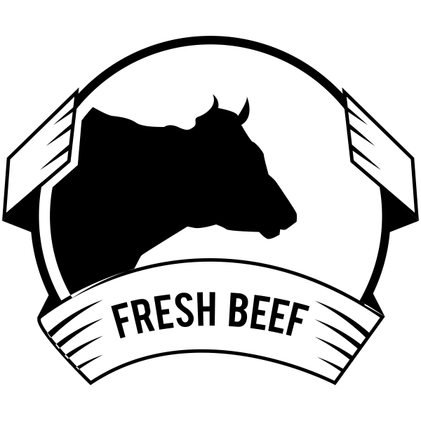 600x600 Fresh Beef With Cow Packaging Rubber Stamp