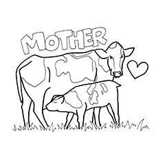 230x230 Top 15 Free Printable Cow Coloring Pages Online