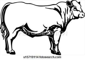 350x251 Black Angus Cow Clipart