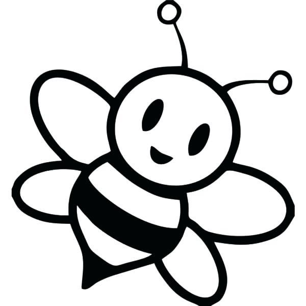 600x600 Bumble Bee Coloring Pages Pin Drawn Bumblebee Coloring Page