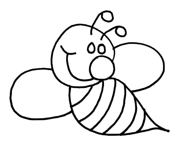 600x521 Bee Coloring Page And Head Of Bee With A Sting Bee Attitudes