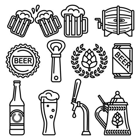 480x480 Free Beer Icons Free Beer, Icons And Free