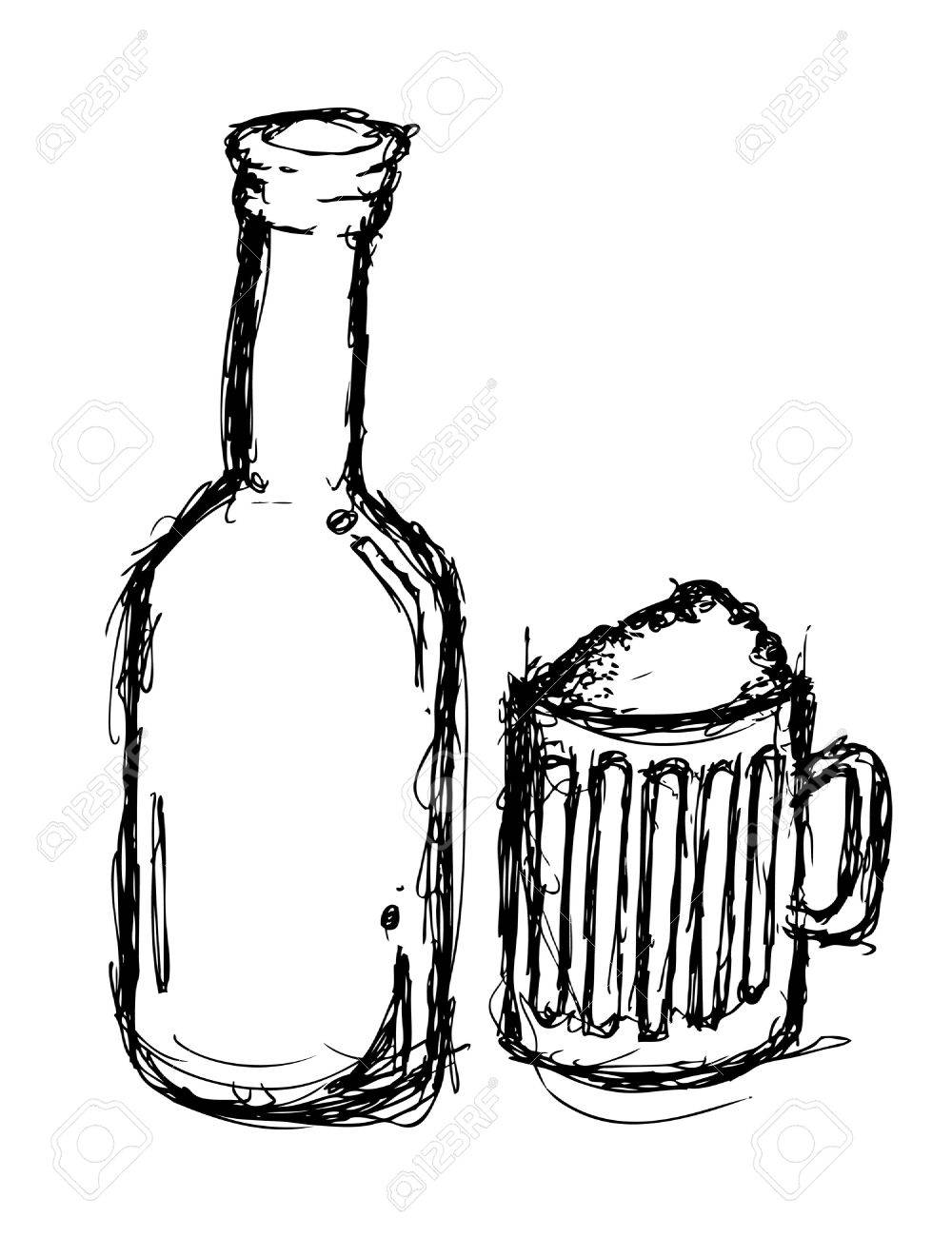 1000x1300 Grunge Beer Doodle Royalty Free Cliparts, Vectors, And Stock