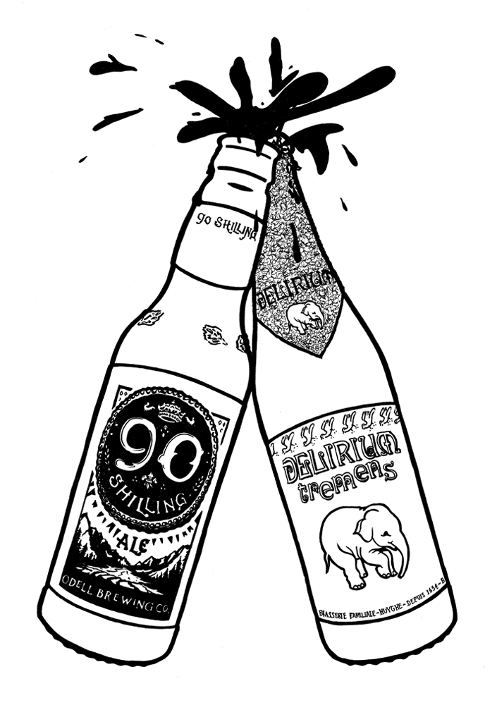 Beer Bottle Drawing at GetDrawings | Free download
