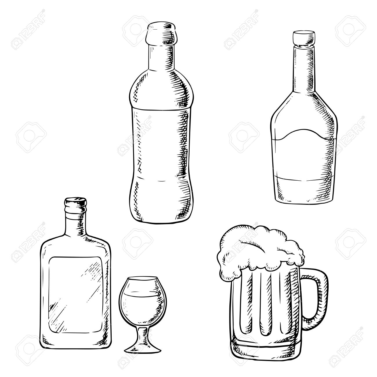 1300x1300 Alcoholic Beverages With Bottle Of Wine, Liquor, Whiskey, Glass