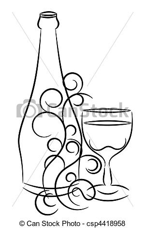 300x470 Wine Bottle Wine Glass Clipart And Stock Illustrations. 25,882