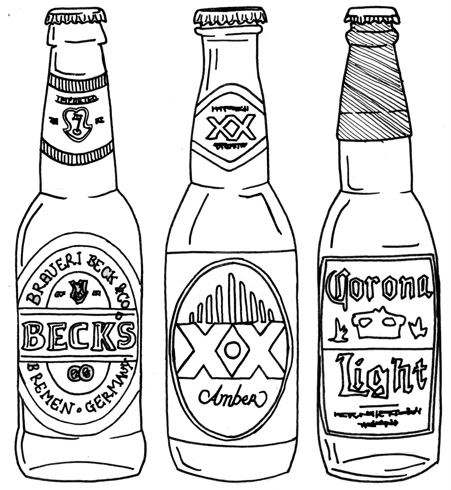 1474x1600 Line Drawing Of Bottles