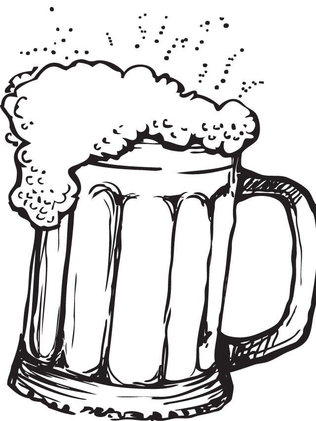 Line Drawing Jug : Beer bottle line drawing at getdrawings free for