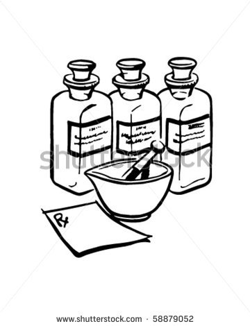 360x470 Bottle Clipart Line Drawing