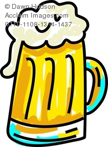 221x300 Cartoon Drawing Of A Mug Of Beer Or Ale With A Big Head Of Foam