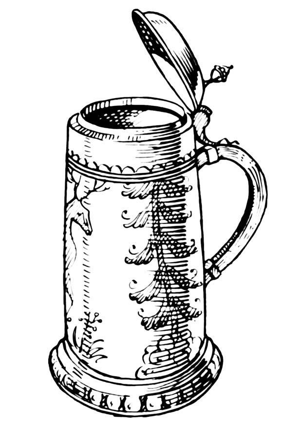 620x875 Coloring Page Beer Jug