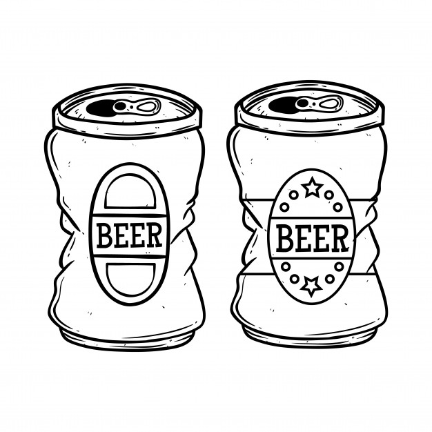 626x626 Hand Drawing Beer Can Vector Premium Download