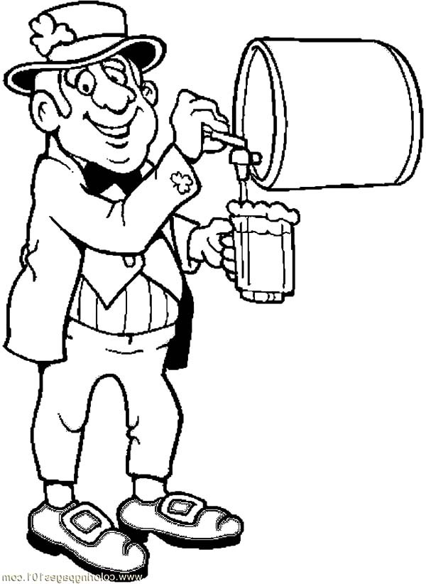 600x822 Leprechaun Pouring Beer Coloring Pages Best Place To Color