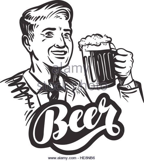 484x540 Man Drawing Beer Stock Photos Amp Man Drawing Beer Stock Images