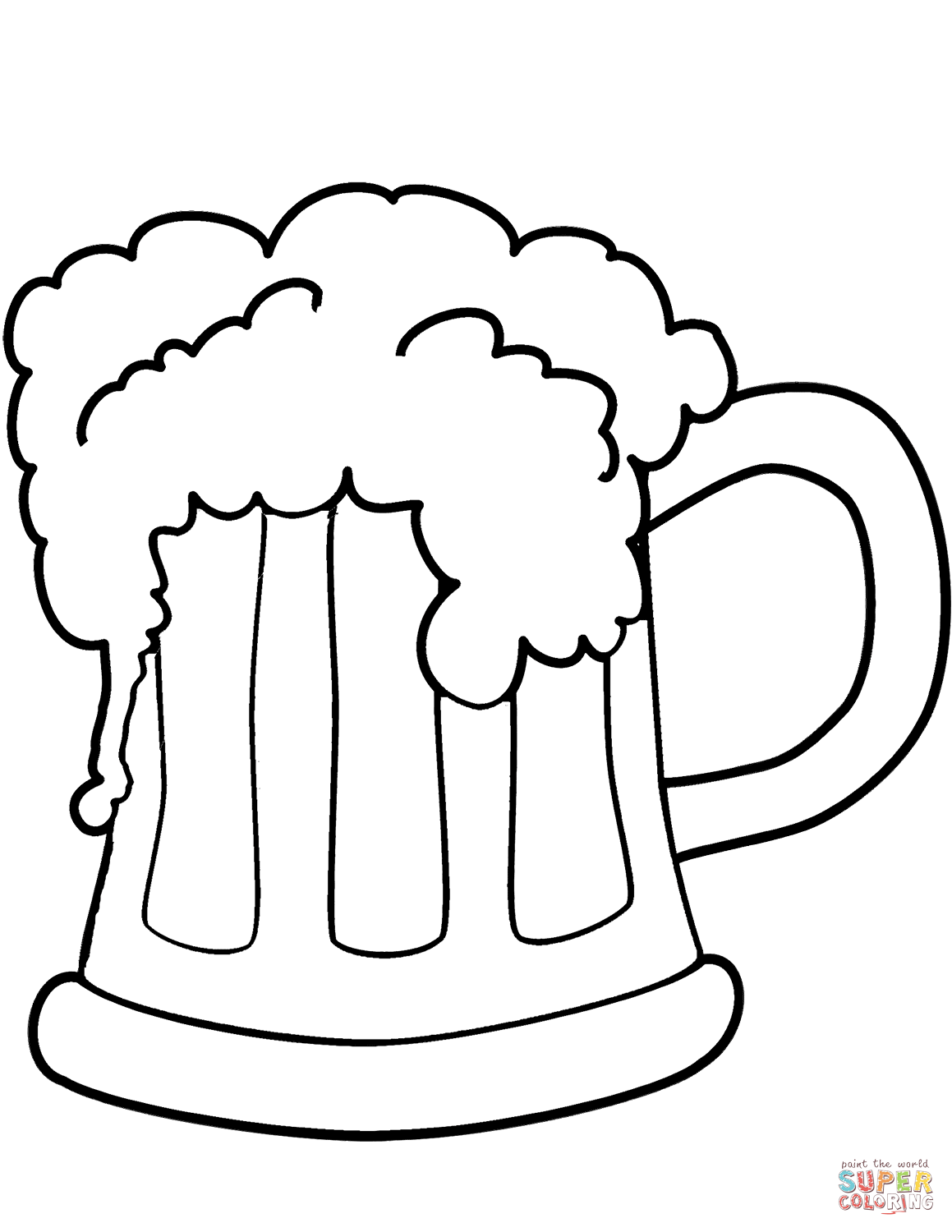 1159x1500 St. Patrick's Day Beer Coloring Page Free Printable Coloring Pages
