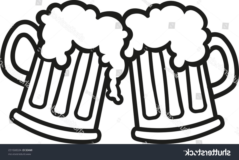 1500x1003 Unique Stock Vector Beer Mugs Cartoon Cheers Cdr