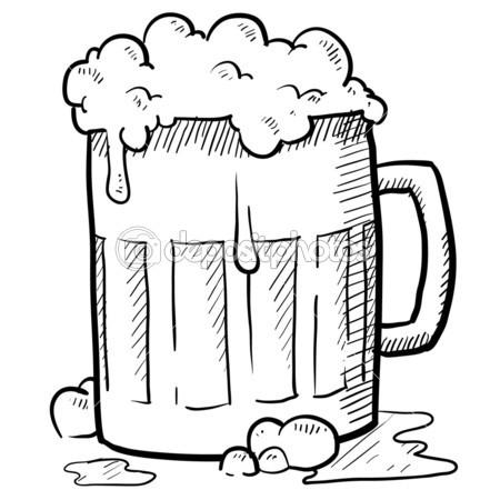 450x450 Beer Glass Sketch