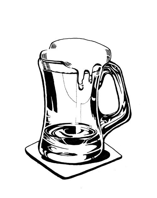 500x630 Beer Mug Drawings