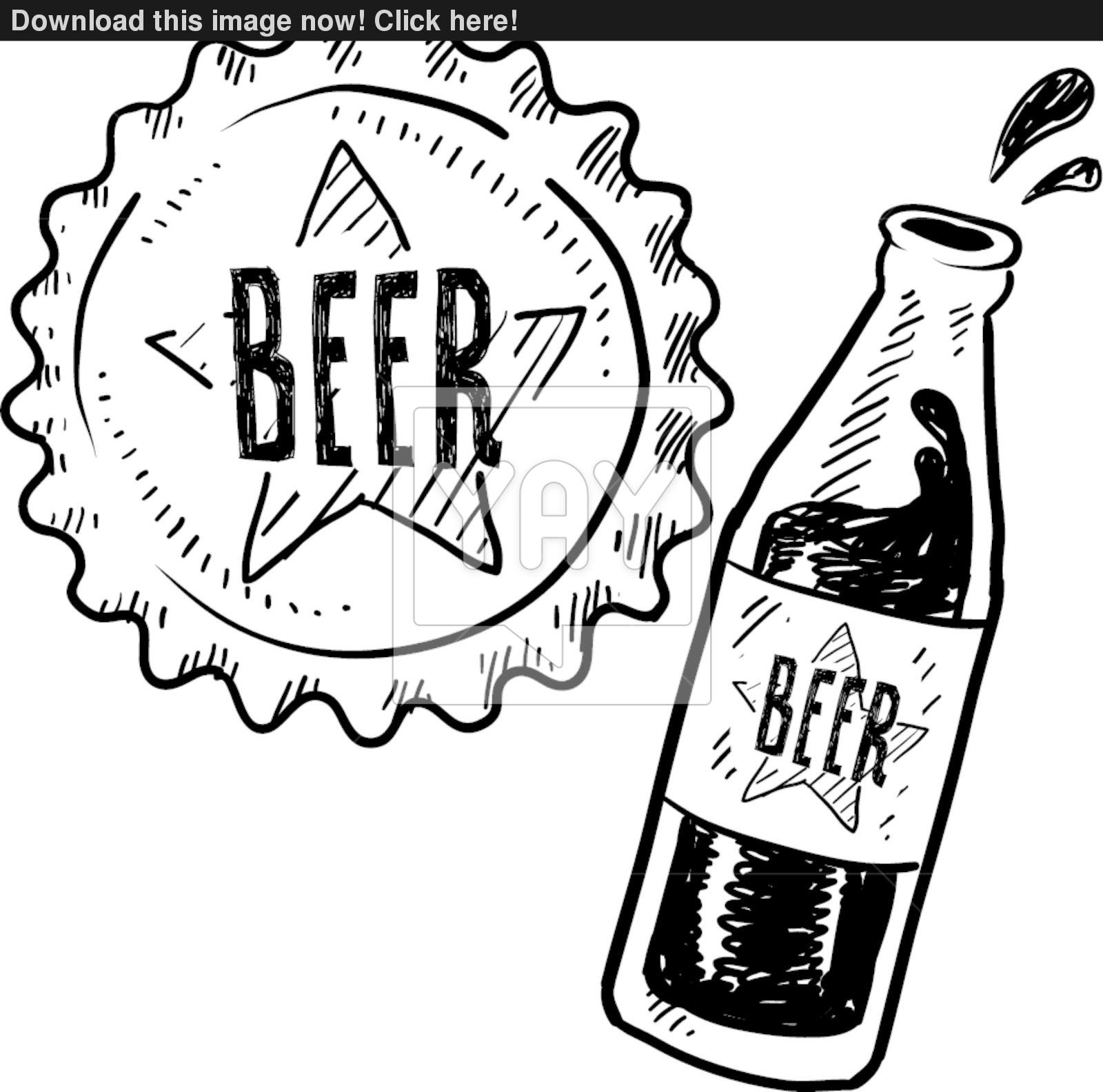 1600x1584 Drawn Beer Beer Bottle
