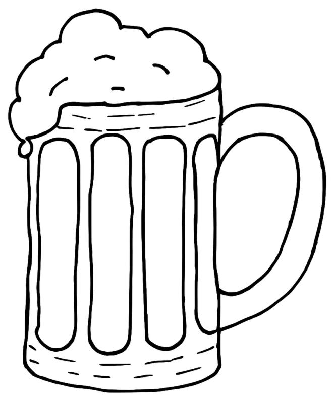 662x800 Beer Glass Clip Art Black And White