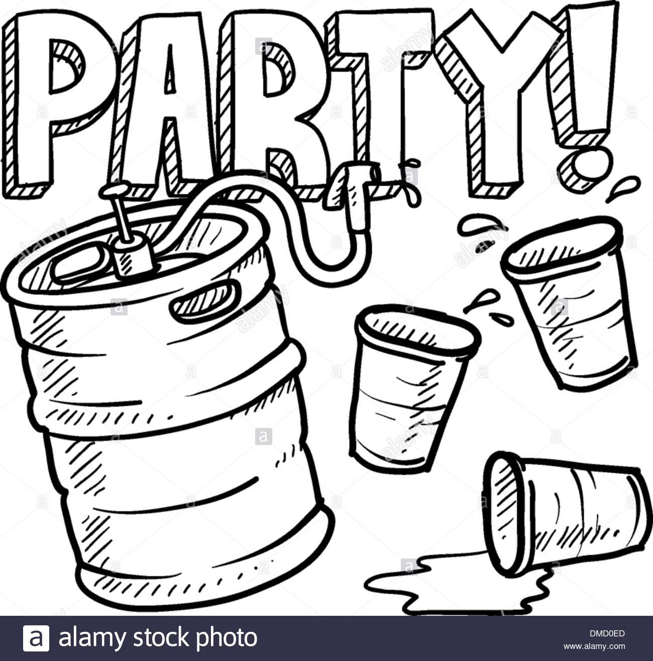 1300x1316 Keg Party Sketch Stock Vector Art Amp Illustration, Vector Image