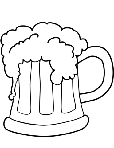 371x480 Patty's Day Beer Coloring Page Free Printable Coloring Pages