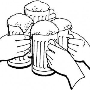 300x300 Beer Stein Coloring Pages Coloring Page