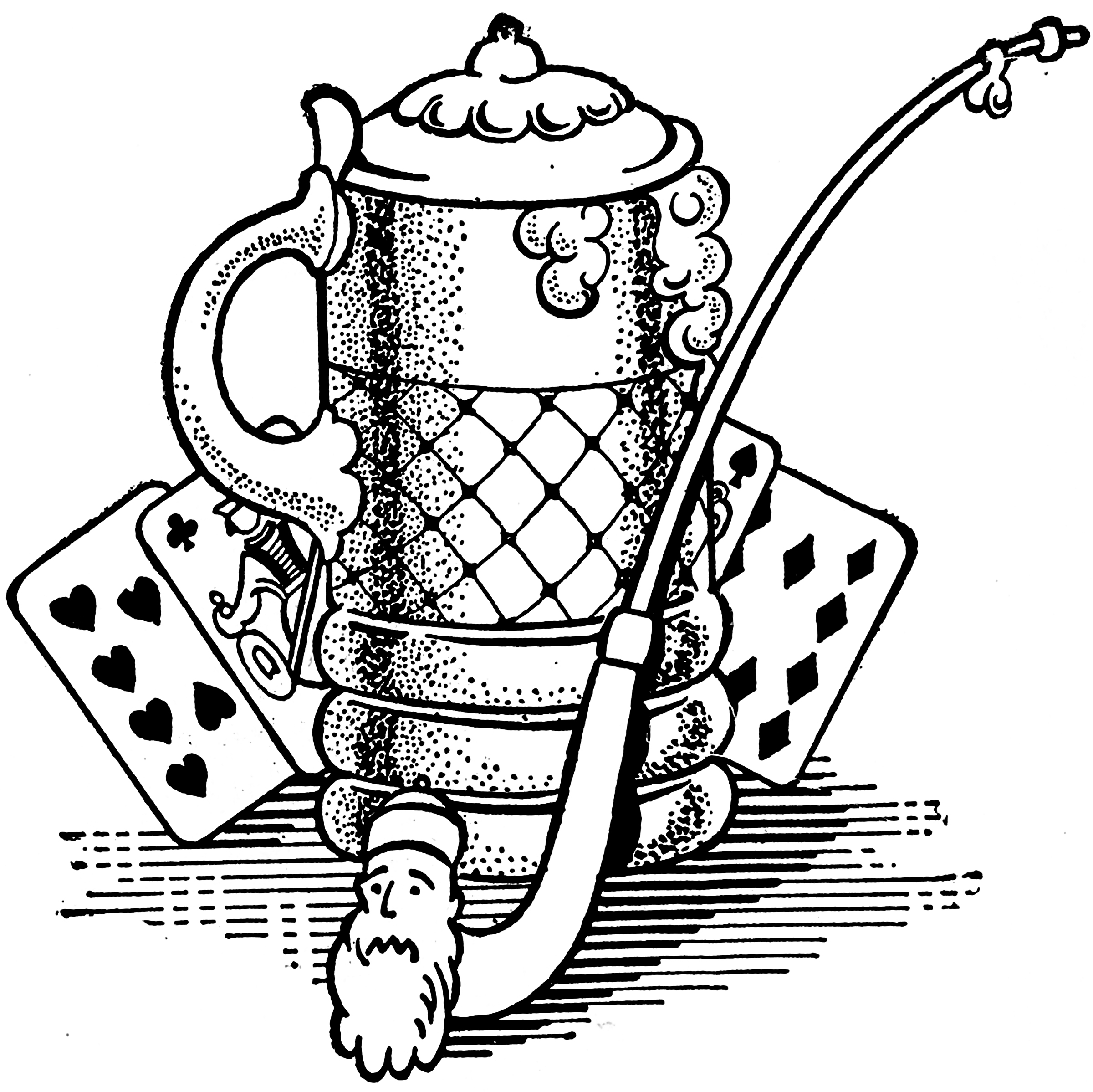 2400x2397 Black And White Beer Stein And Pipe Image!