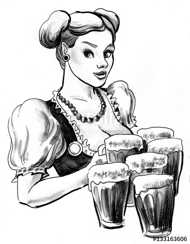 389x500 German Girl With Beer Mugs Stock Photo And Royalty Free Images