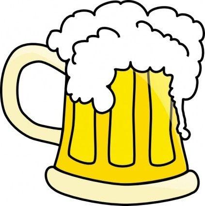 423x425 Nice Beer Stein Clipart