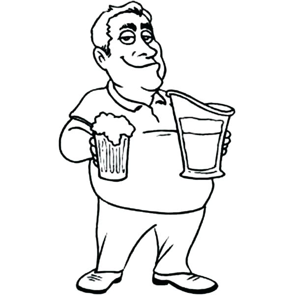 600x600 Beer Coloring Pages Free Preschool Coloring Pages Printable F