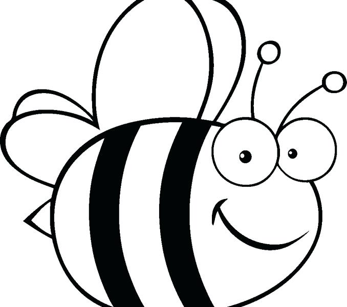 678x600 Bee Coloring Page Bumble Bee Coloring Page Cute Bumble Bee