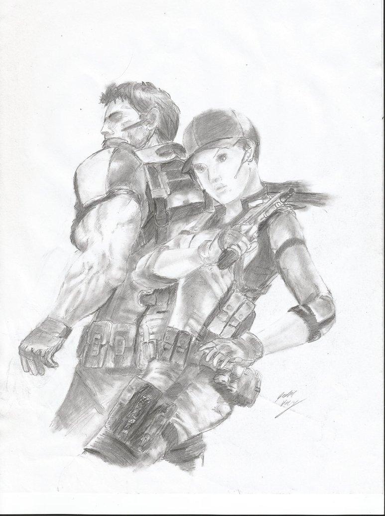 773x1034 Chris Redfield And Jill Valentine By Rigigo