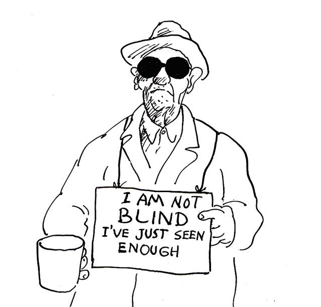 639x612 Blind 44cartoon Humorous Dispassionate