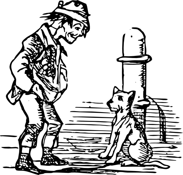 600x573 Beggar And Dog Clip Art Free Vector In Open Office Drawing Svg