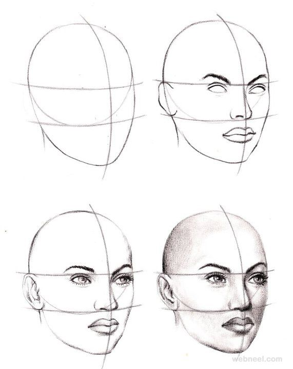 571x720 how to draw a face