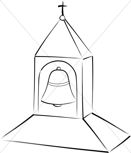 524x612 Church Bell Tower Church Bell Clipart