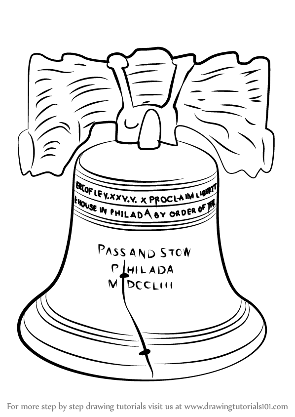 598x844 Learn How To Draw Liberty Bell (Other Places) Step By Step