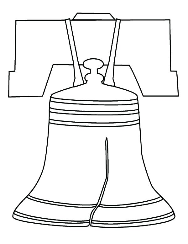 600x778 Cheap Liberty Bell Coloring Page Print Pages Symbols Marine