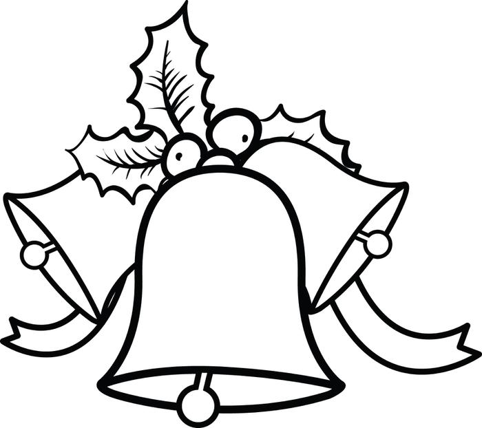 700x622 Christmas Bells Coloring Page