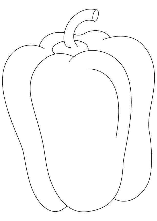 613x860 Capsicum Fruit Coloring Pages Download Free Capsicum Fruit