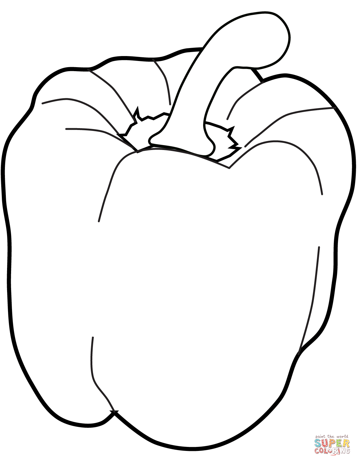 1160x1500 Sweet Pepper Coloring Page Free Printable Coloring Pages