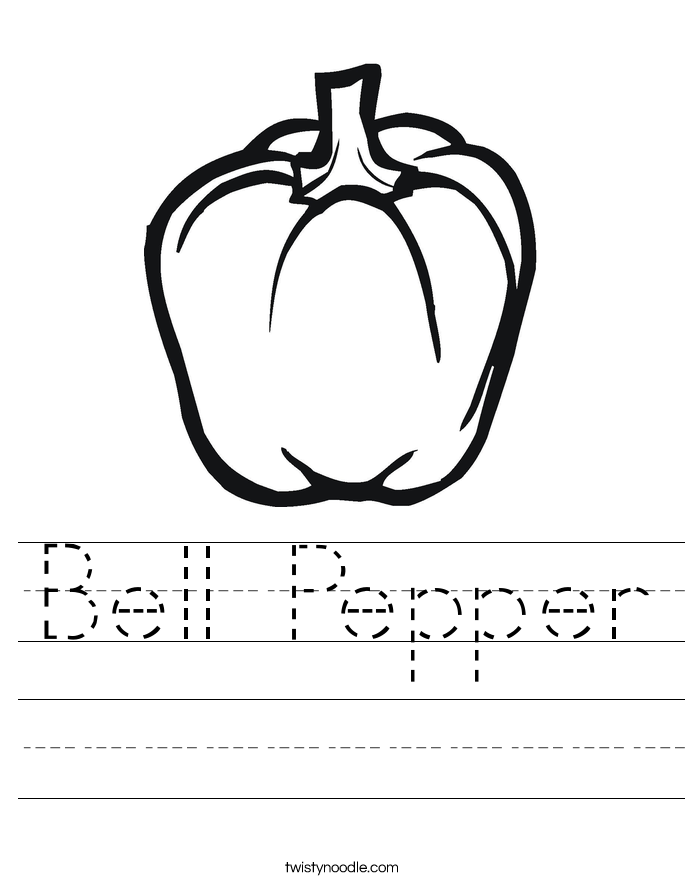 685x886 Bell Pepper Plant Coloring Page