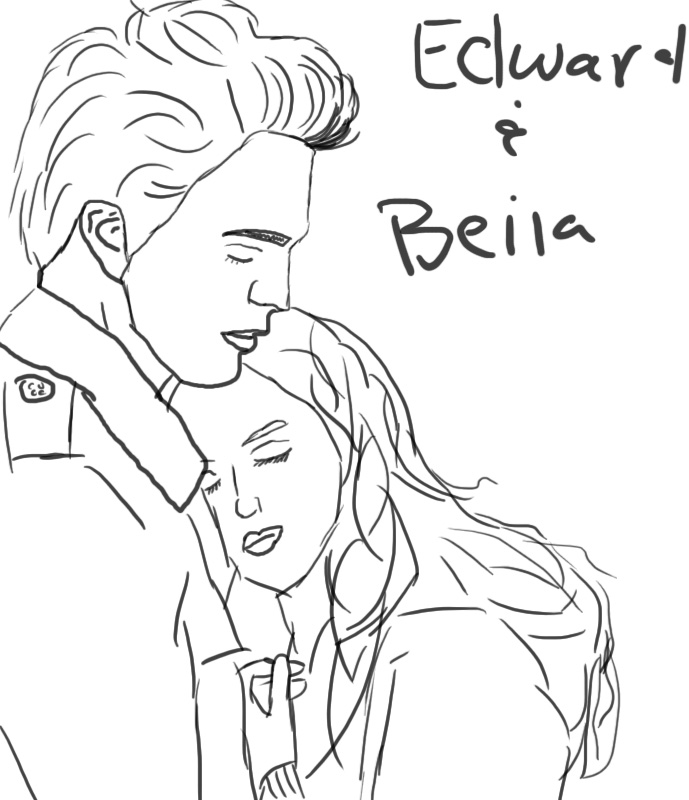 689x800 Edward And Bella Speed Drawing By Ceciliay